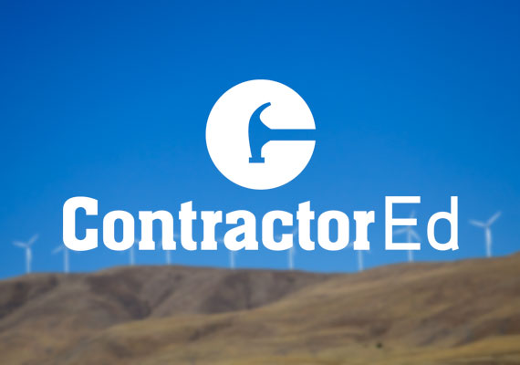 Logo design for a contractor education service based in Portland.