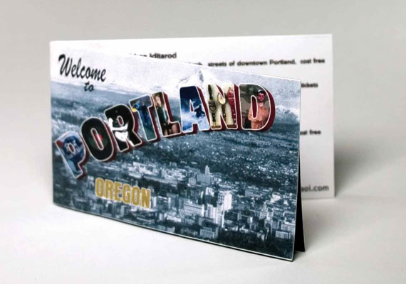 The only student project I wanted to include. This is a wallet sized map that shows out-of-town visitors all the must visit spots in Portland (Powell's, Stumptown, Mary's Club, etc).